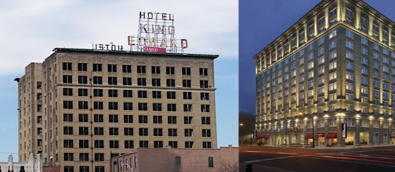The abandoned and remodeled King Edward Hotel.